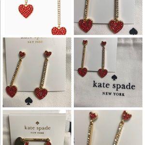 kate spade Jewelry - KATE SPADE YOURS TRULY CRYSTAL HEART EARRINGS